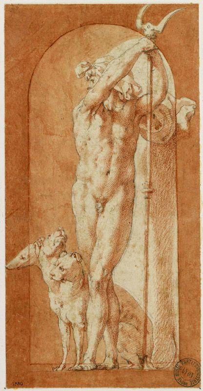 Giovanni Battista di Jacopo, dit Rosso Fiorentino (Florence, 1494 - Paris, 1540), Pluton, Rome, vers 1526. MT 20013. Achat Basset, 1867 © Musée des Tissus, Pierre Verrier