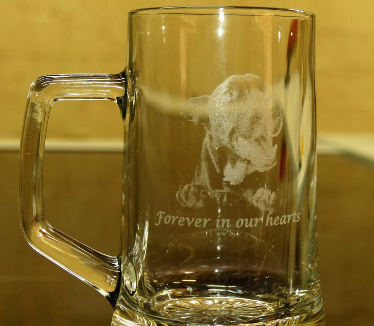 Beer tankard custom engraved with your message, and any special graphic you require. Great gift idea