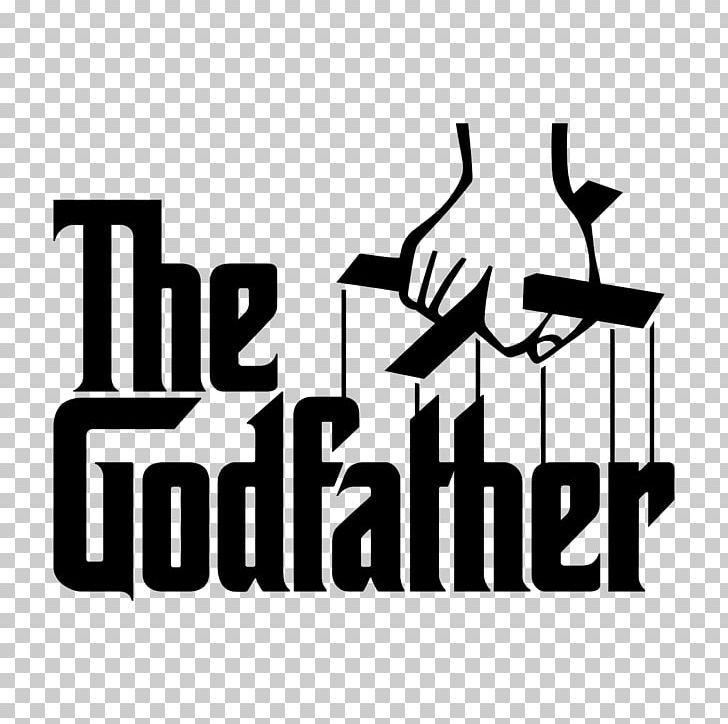 The Godfather Logo Png Black Black And White Brand Corleone Family Decal The Godfather Mandela Art Funny Kids Shirts