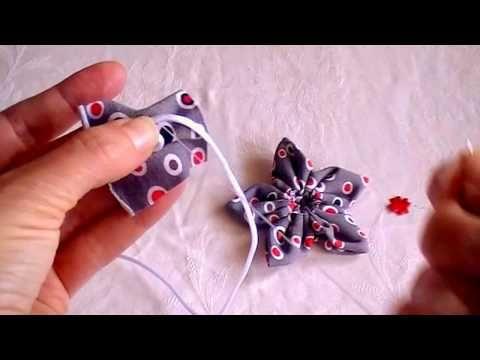 kanzashi fabric flower tutorial/ fabric flower easy and quickly/ nice handmade flowers/výroba kanzashi textilní květiny/textilní květina snadno a rychle Videa  - YouTube