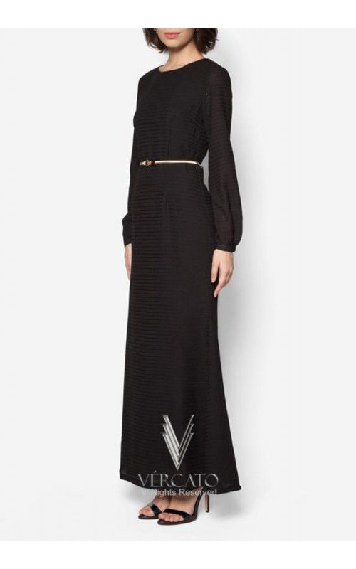 Stunningly minimal and chic, this gorgeous jubah by VERCATO features a beautiful textured finish and a sleek gold tone metal belt. Embody demure femininity as you grace your social occasions with this number SHOP here: www.vercato.com