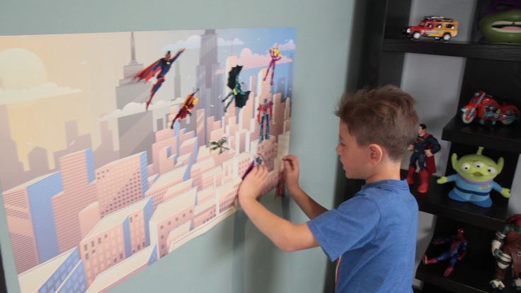 Create scenes and tell stories with magnetic story boards.