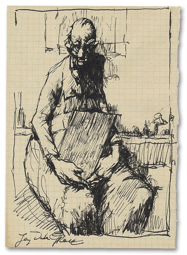 Jerzy Duda Gracz | The figure seated | | 21 x 15 cm