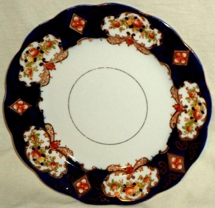 Royal Albert Crown China England Heirloom Imari Salad Plate Gold Gilt 7 3/4