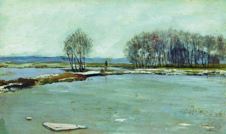 Левитан Исаак Ильич (1860-1900) Isaak Levitan Ранняя весна. 1899