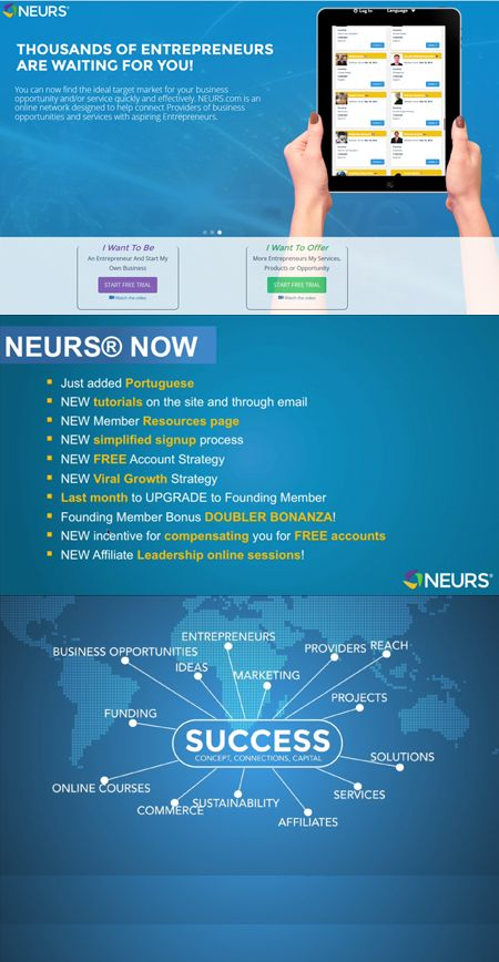 NEURS.com CEO Frank Codina covers new and exciting changes to the website, including a new simplified homepage, new credit pricing and compensation, and a new DOUBLER BONUS for the month of August!...