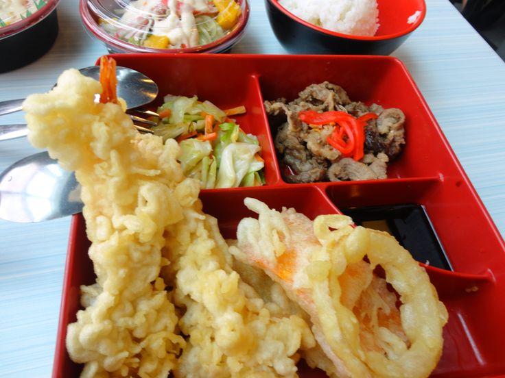 Calamares, Shrimp Tempura, Bulgogi and Stir Fried Veggies @ Tokyo Tokyo, Southmall