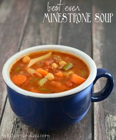 This recipe for minestrone soup is the best I've ever tasted. It even beats all the minestrone soups I've tried at Italian restaurants. It is so, so, good!