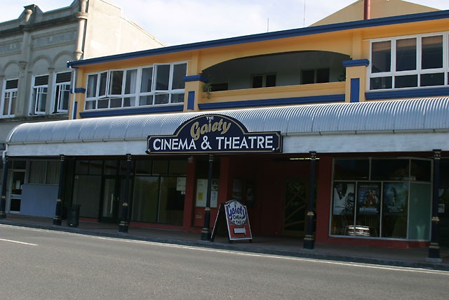 Wairoa - The Gaiety Theatre.. guy who runs this is a movie buff.. dont think he makes money off running it, but they have lounges and armchairs in the theatre with a screen thats huge! Went here in winter and they brought out a gas heater for us each.. sooo cool. :) can BYO fish and Chips too and go in PJs if like.. Only in small town NZ :)