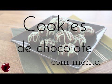 Cookies de chocolate e menta pra se apaixonar!