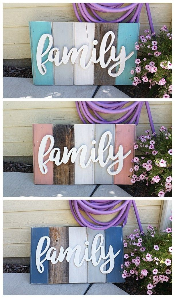 "New ""Old"" Distressed Barn Wood Word Art Indoor/Outdoor Home Decor Sign – D…"
