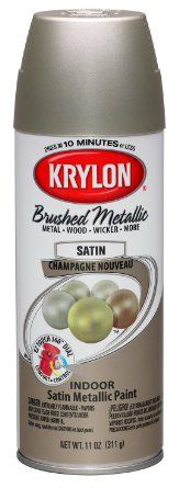 Krylon K05125300 Brushed Metallic Aerosol Spray Paint, 11-Ounce, Champagne Nouveau - Amazon.comI want to update all our ugly brass knobs in our house.