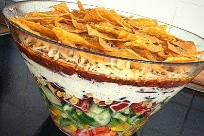 Taco - Salat, ein raffiniertes Rezept aus der Kategorie Raffiniert & preiswert. Bewertungen: 135. Durchschnitt: Ø 4,7.