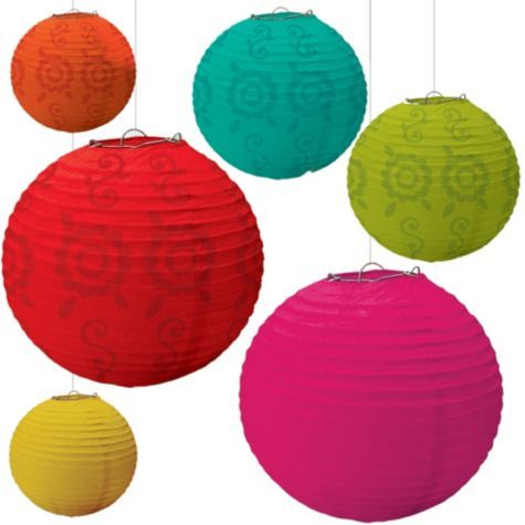 Bollywood Theme: Fiesta Paper Lanterns - Party City