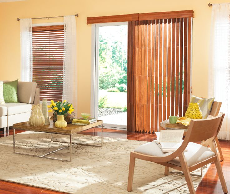"""Bali Wood Vertical Blinds with Cord and Chain Control and 3-1/2"""" Traditional Valance and Keystone: Bourbon 1465"""