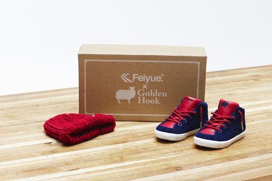 Feiyue x Golden Hook Exclusive give away on kleinstyle.com kids Sneaker and handmade woolen hat    #feiyue #golden_hook #kids #sneaker