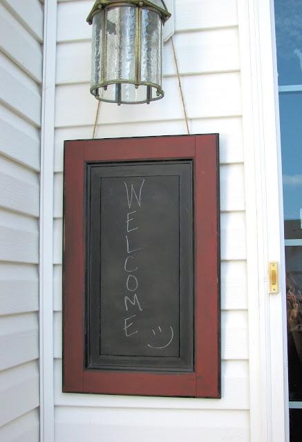 Diy Cabinet Door Turned Front Door Message Chalkboard