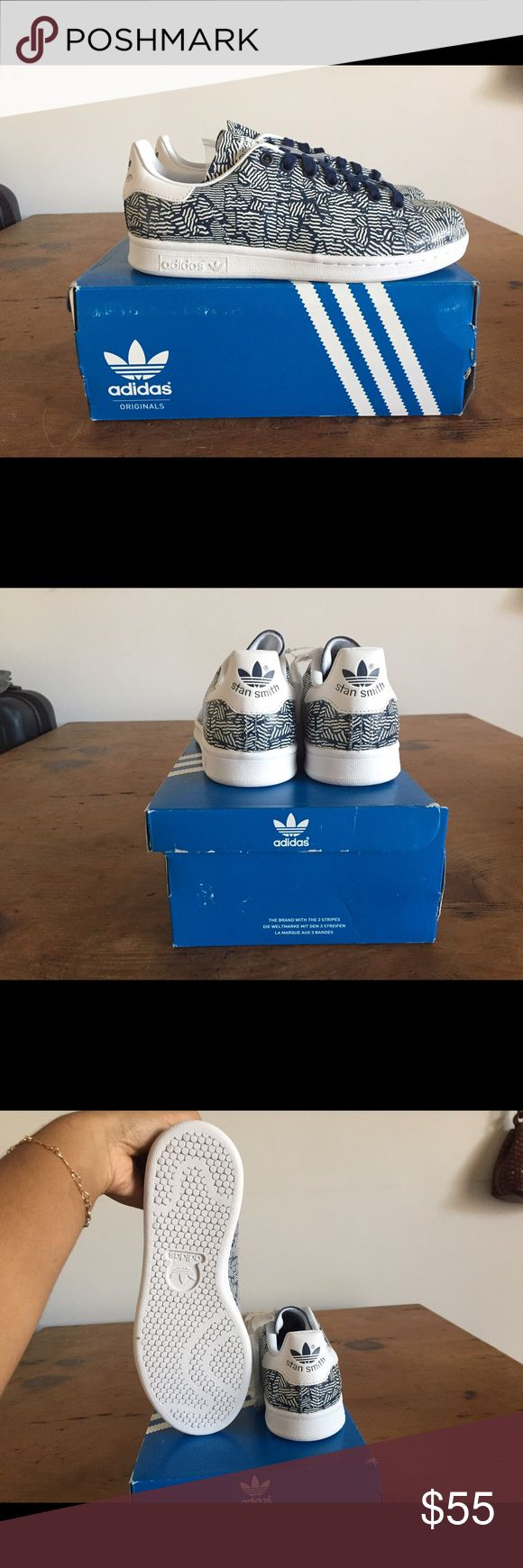 STAN SMITH ADIDAS STAN SMITH ADIDAS - leather navy and white. Size 6.5 (I'm a true 7, these run a little big) - brand new, never worn. Email for inquiries kimmyscloset7@yahoo.com Adidas Shoes Sneakers