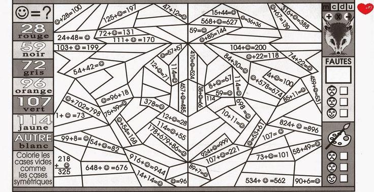 Page 3 Coloriages magiques mathématiques CE1 Sedrap - coloriage magique multiplication ce1