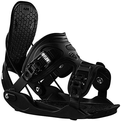 Flow Mens Alpha Snowboard Bindings 2017 Black L -- Click