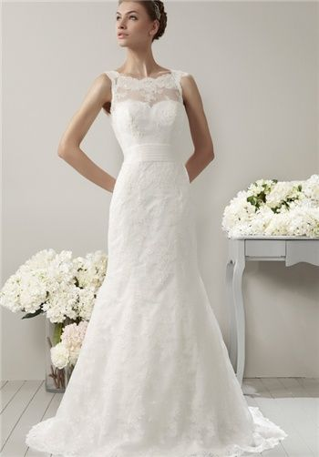 Adriana Alier 157-GOMERA  A-Line, Sheer, Sweetheart neckline wedding dress good for long torso & broad shoulders   Train Length: Chapel  Sleeve Style: Sheer, Tank Straps  Fabric: Tulle, Beaded, Lace  Embellishments: Beading, Lace  Special Features: Open Back