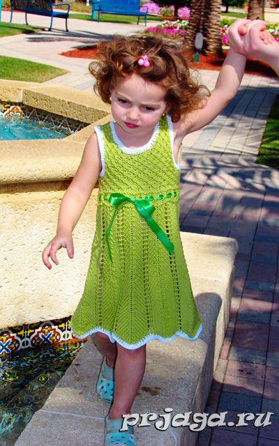 Вязание для детей спицами платья