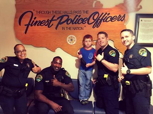 (PoliceOne Image)  This week's photo of the week comes from the Boynton Beach Police Department in Florida. Pictured are the group of officers that retrieved an autistic boy's lost iPad. 6-year-old Aaron uses the tablet to communicate. After leaving the iPad in a shopping cart, these officers tracked the device down through its GPS location feature and retrieved it from a residence. Great job, officers!