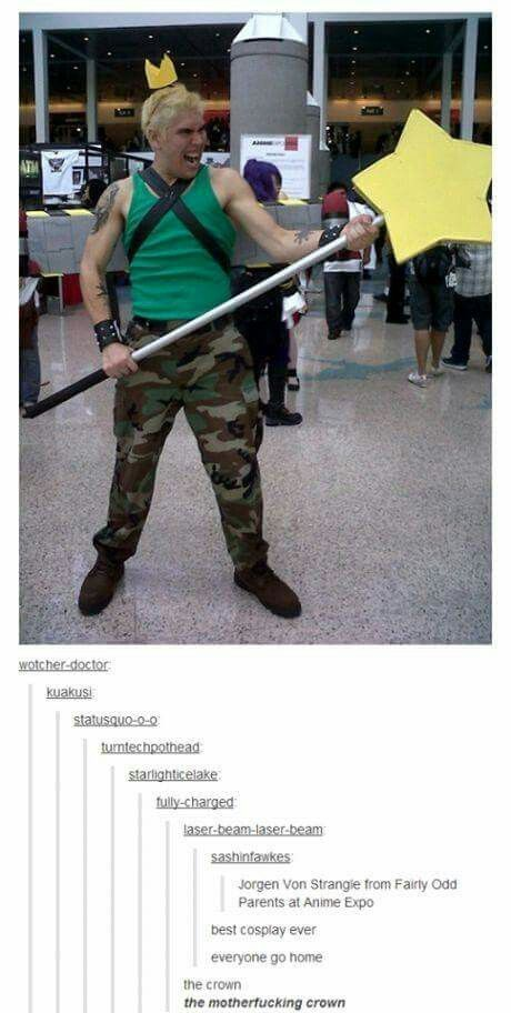 This Belongs Herebecause It Just DOES Jorgen Von Strangle From Fairy Odd Parents Cosplay