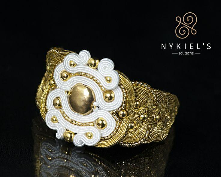 LagrimasDelSol - wedding soutache bracelet de Nykiel's  Soutache Jewellery