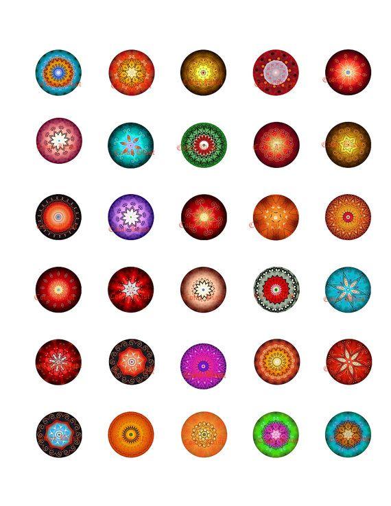 Preciosa instantánea de círculos descargar Collage imprimible