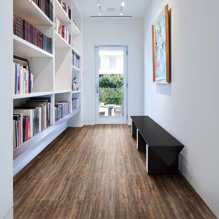 ACHIM Aged Driftwood 9 in. x 48 in. Loose Lay Vinyl Plank