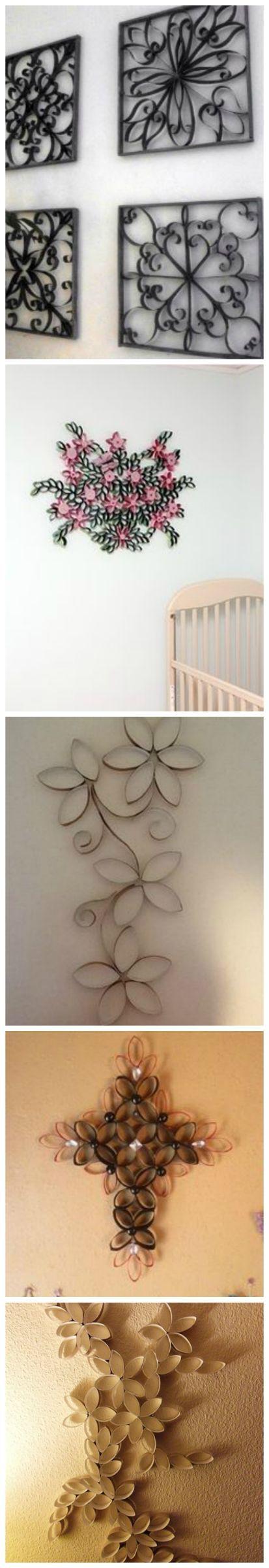 DIY Project- Toilet Paper Roll Wall Art