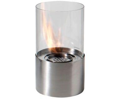 Настольный камин на биоэтаноле - сталь, Ø16х29 см