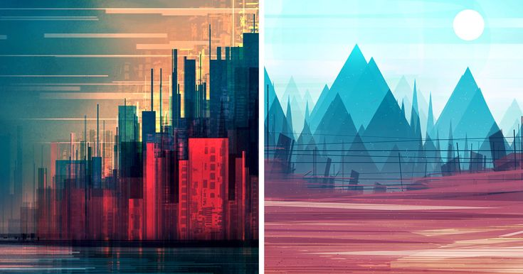 Geometric Cityscapes And Landscapes By Illustrator Scott Uminga | Bored Panda