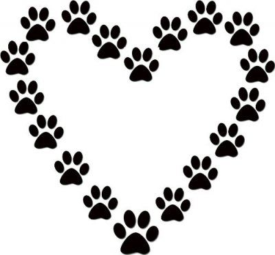 Dog Paw Heart