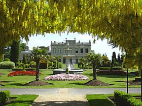 Brodsworth - Brodsworth Hall and Fountain from Laburnum Arch © Steve Willimott