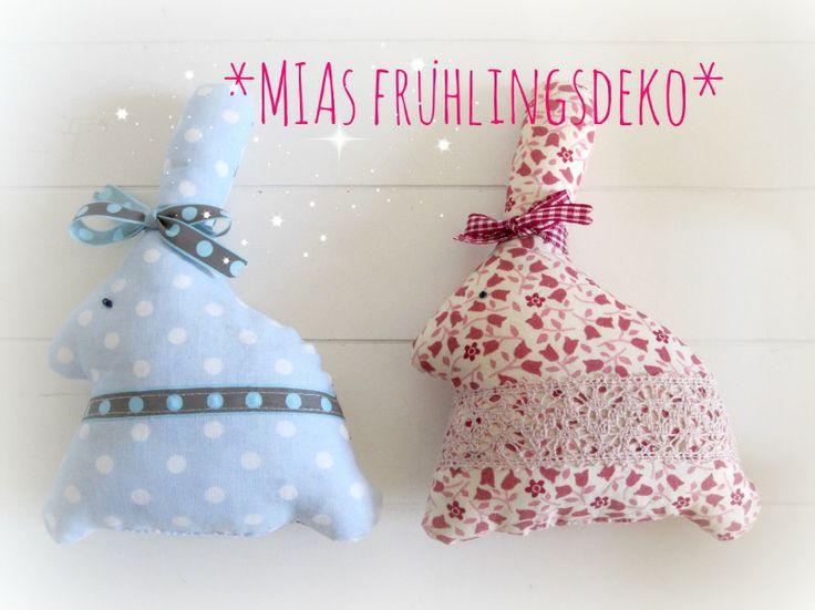Duftende Lavendelkaninchen. Aus gemustert fröhlichem Baumwollstoff. Von vorn ... kaufBar: www.miasmarkt.de