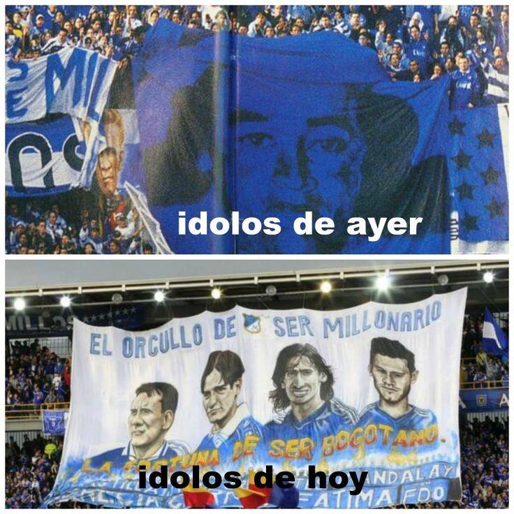 los grandes idolos (?) de #millonarios #millos #ochonarios #Millosdel8 #azul