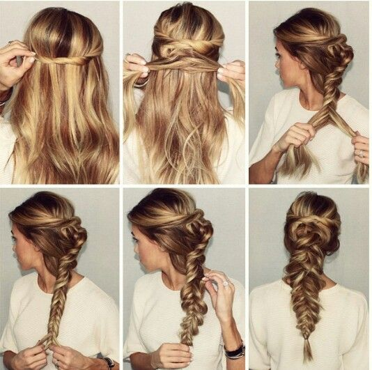 Fishtail up do