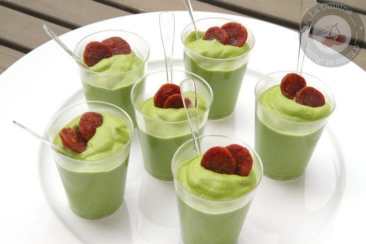 Découvrez la recette verrine de petits pois au chorizo sur Cuisine-actuelle.fr.