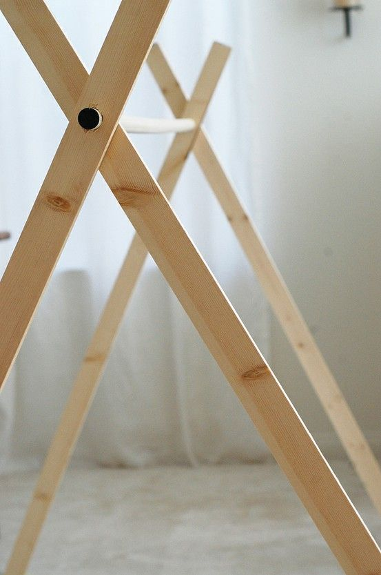 DIY a-frame tent. AWESOME! Just unfold & throw over a blanket or a sheet.... instant tent! Clever!!