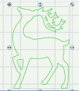 Reindeer template