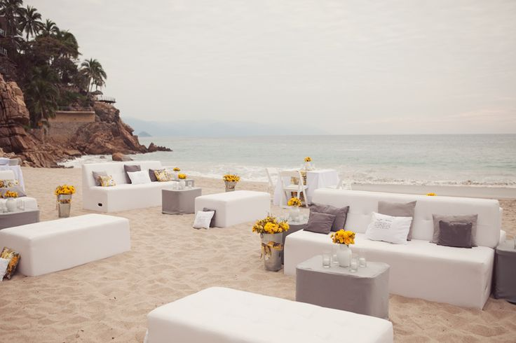Beach Wedding Lounge Area
