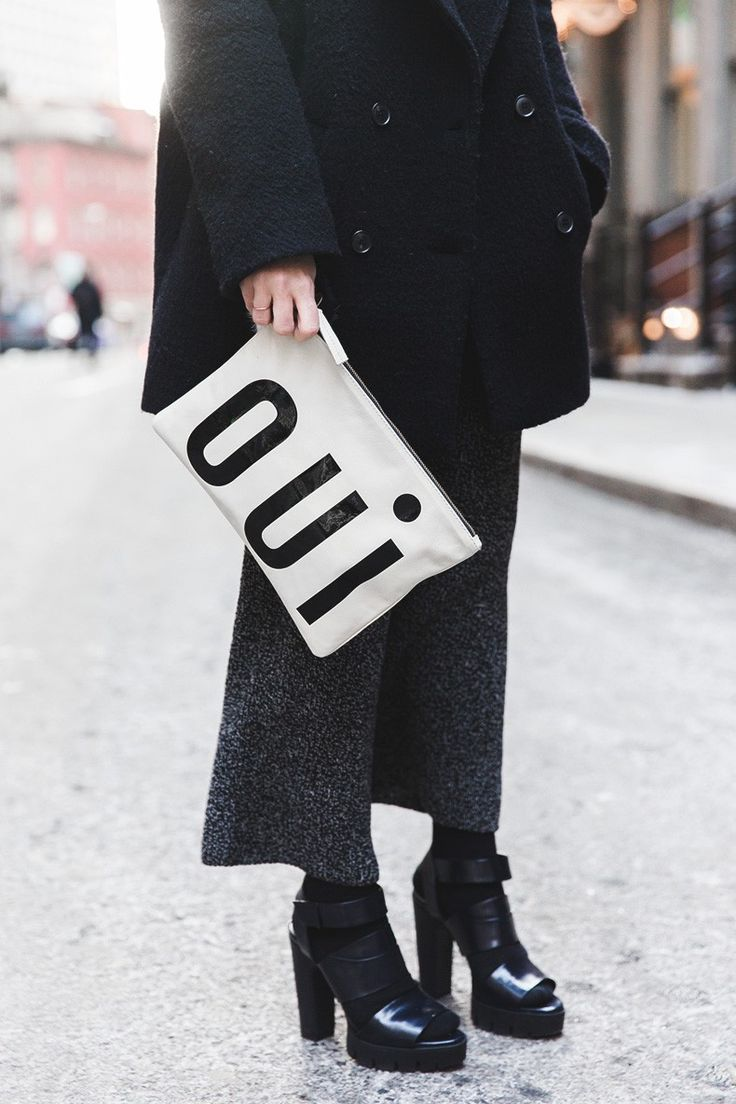 New York Fashion Week NYFW - Knitted Trousers Culottes - Bandana Scarf - Sita Murt Coat - Michael Kors Fall 15 - Clare Vivier// #StreetStyle #CollageVIntage