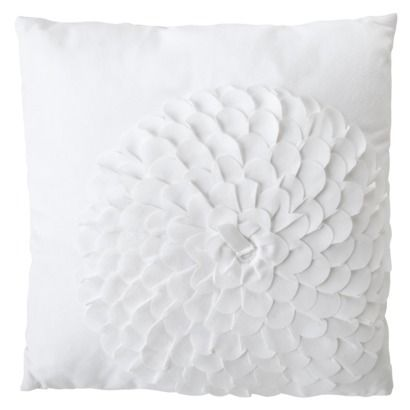 a great way to add dimension to a neutral room is with a texture like this xhilaration flower decorative pillow white