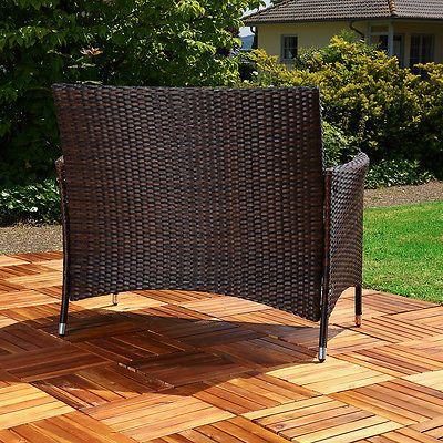 Gartenbank Modern Rattan sdatec.com