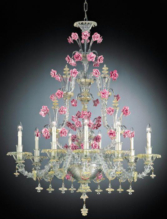 Стеклянные цветы- люстры Мурано. - Интересное и забытое - быт и курьезы прошлых эпох.