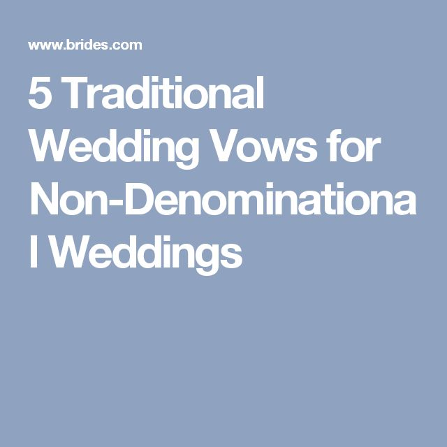 Best 25+ Traditional Wedding Vows Ideas On Pinterest