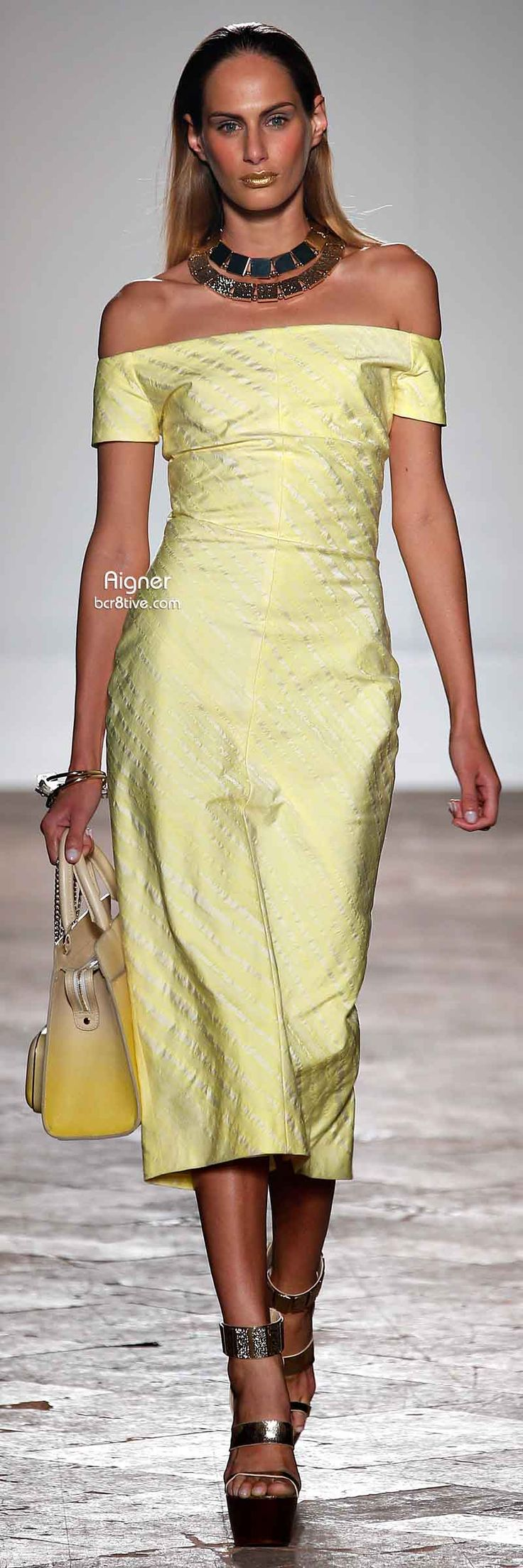 """Aigner Spring 2014  ♥♡♥♡♥Thanks, Pinterest Pinners, for stopping by, viewing, re-pinning,  following my boards.  Have a beautiful day! ^..^ and """"Feel free to share on Pinterest ^..^ #streetfashion   #fashionupdates"""