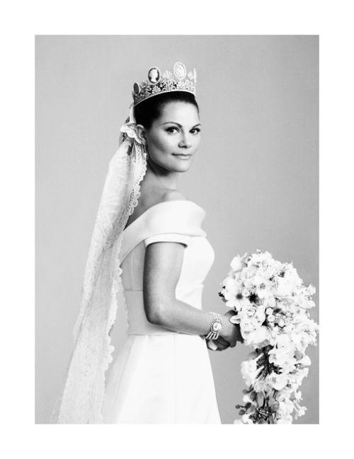 anythingandeverythingroyals: Crown Princess Victoria of Sweden on her wedding day, 2010